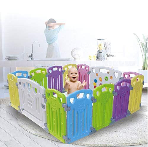 Home Indoor Outdoor New Pen Baby Playpen Kids 14 Panel Activity Centre Safety Play Yard