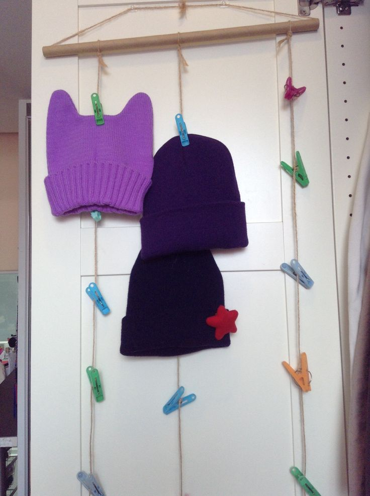 How to Make a Hanging Hat/Beanie Organizer