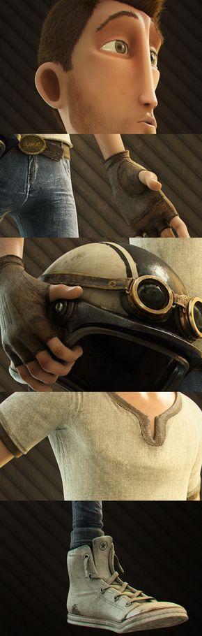 Diseño de personaje. Concepto, modelo, textura, rigging by Rafael Jurado, via Behance