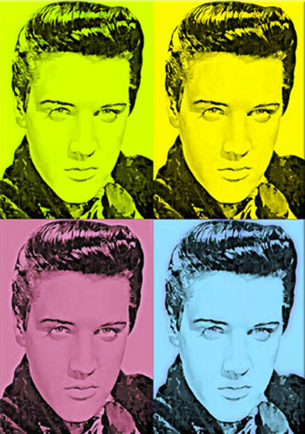 elvis by andy warhol elvis presley pinterest
