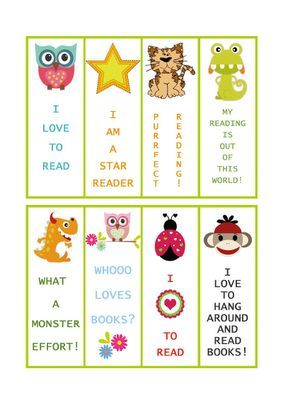 Free Printable Bookmarks - Print some out on card stock and keep them in a basket in your class library for student to take as needed: