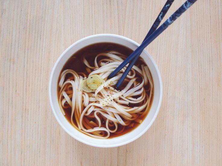 udon soup by beet spirit kombu shoyu mirin chives brown sugar