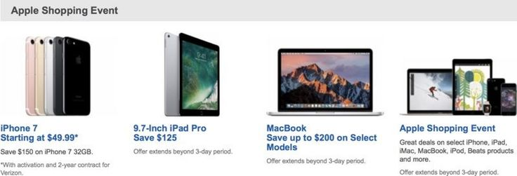 Best Buy's Last Minute Holiday Deals Include $125 Off iPad Pro, Up to $200 Off Macs  #Tag:BestBuy #news