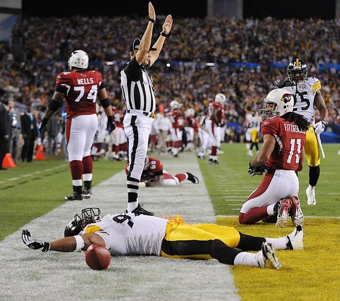 James Harrison - 100 yards later, Touchdown!! Super Bowl XLIII