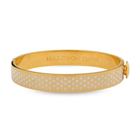 Salamander Bangle, Cream & Gold