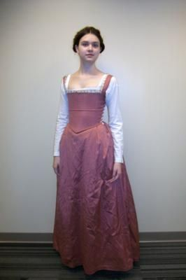 The kirtle was a garment that supported the bust and created the correct silhouette for the period.