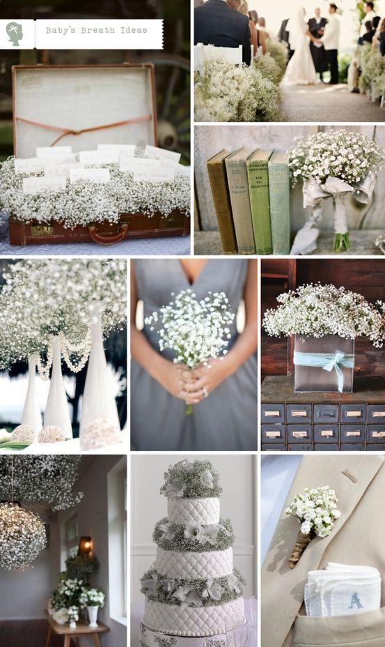 babys breath wedding decor ideas