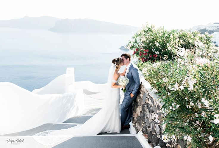 Kiss, In Love, Moments, Forever, Smiles, Joy, Happiness, True, Blue Skies, White Walls, Greece, Santorini Weddings