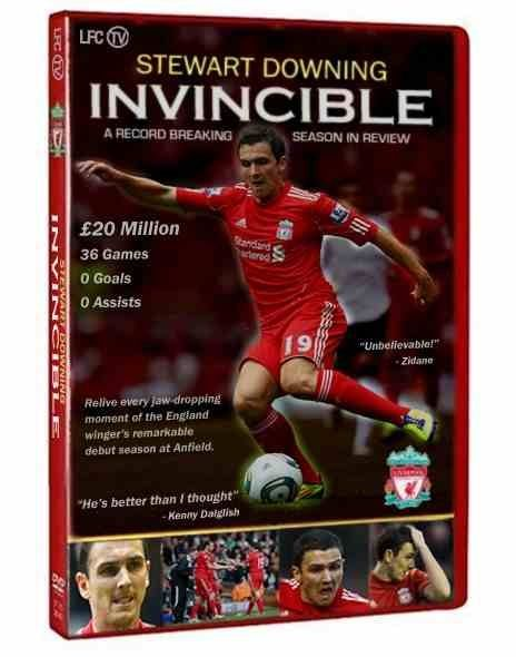 STEWART DOWNING 2011/12 LIVERPOOL GOALS AND ASSISTS NOW AVAILABLE ON COMMEMORATIVE DVD.