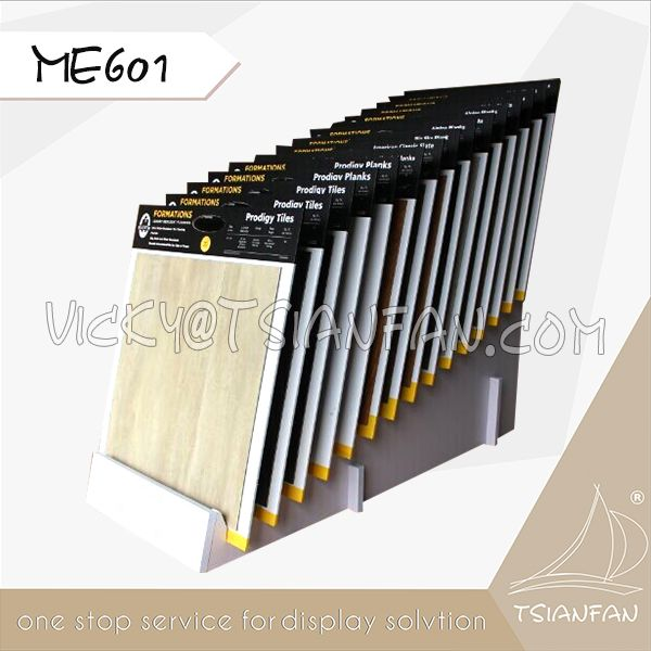 ME601--White MDF flooring display rack