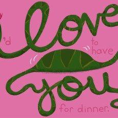 Steph Calvert/Animal Cursive Series - I Love You snake represented by Liz Sanders Agency