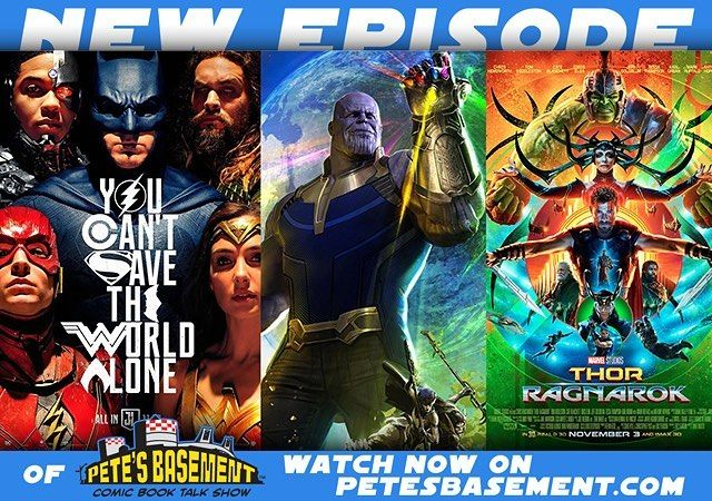 There's trailers galore to talk about in the wake of SDCC! Hopefully you were lucky enough to catch the leaked Infinity War trailer! Thanos is throwing moons at the Avengers! Steppenwolf steps out of the shadows in Justice League and shows exactly why he's born to be wild! No kryptonians and no lanterns to stop him! But just who is Alfred talking to? The basement Crew has some theories. On top of that we've got Surtur a talking Hulk some outer space horror from John carpenter and some more…