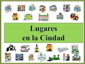 Spanish City Location Vocabulary Powerpoint