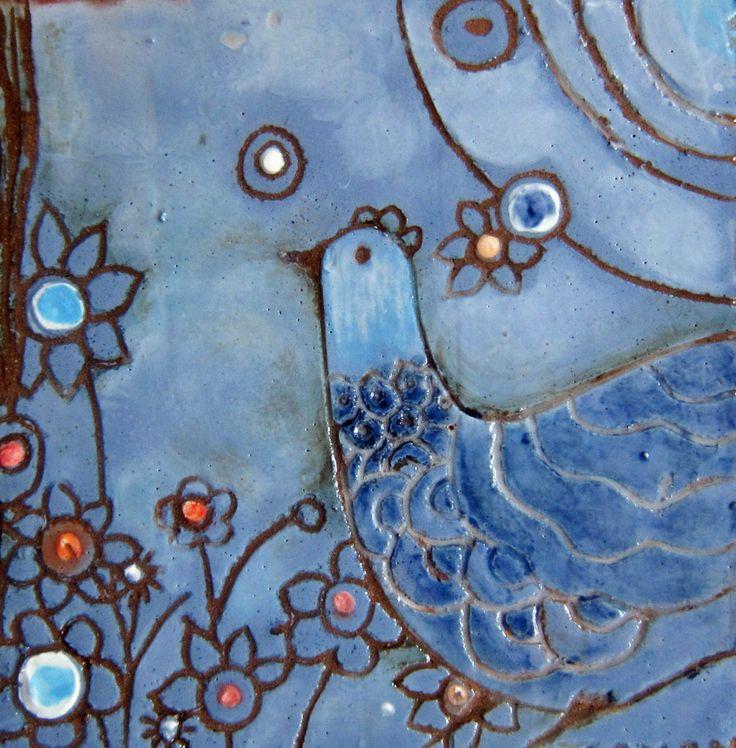 Ceramic tiles by Zeynep Ergincan