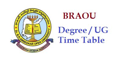 BRAOU Exam Schedule 2016 Dr BR Ambedkar open university UG PG Degree Exam timetable   Dr BR Ambed...