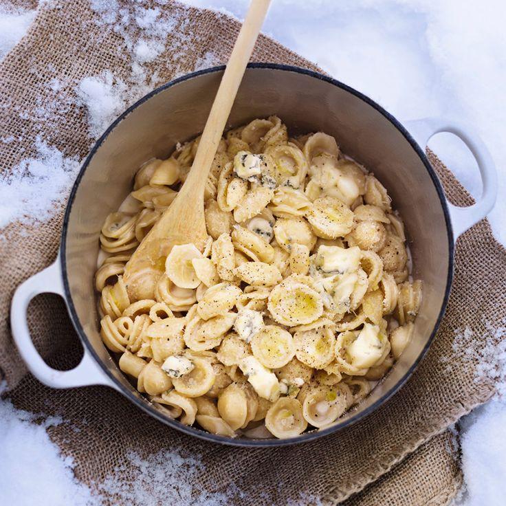 Krämig pasta med gorgonzola