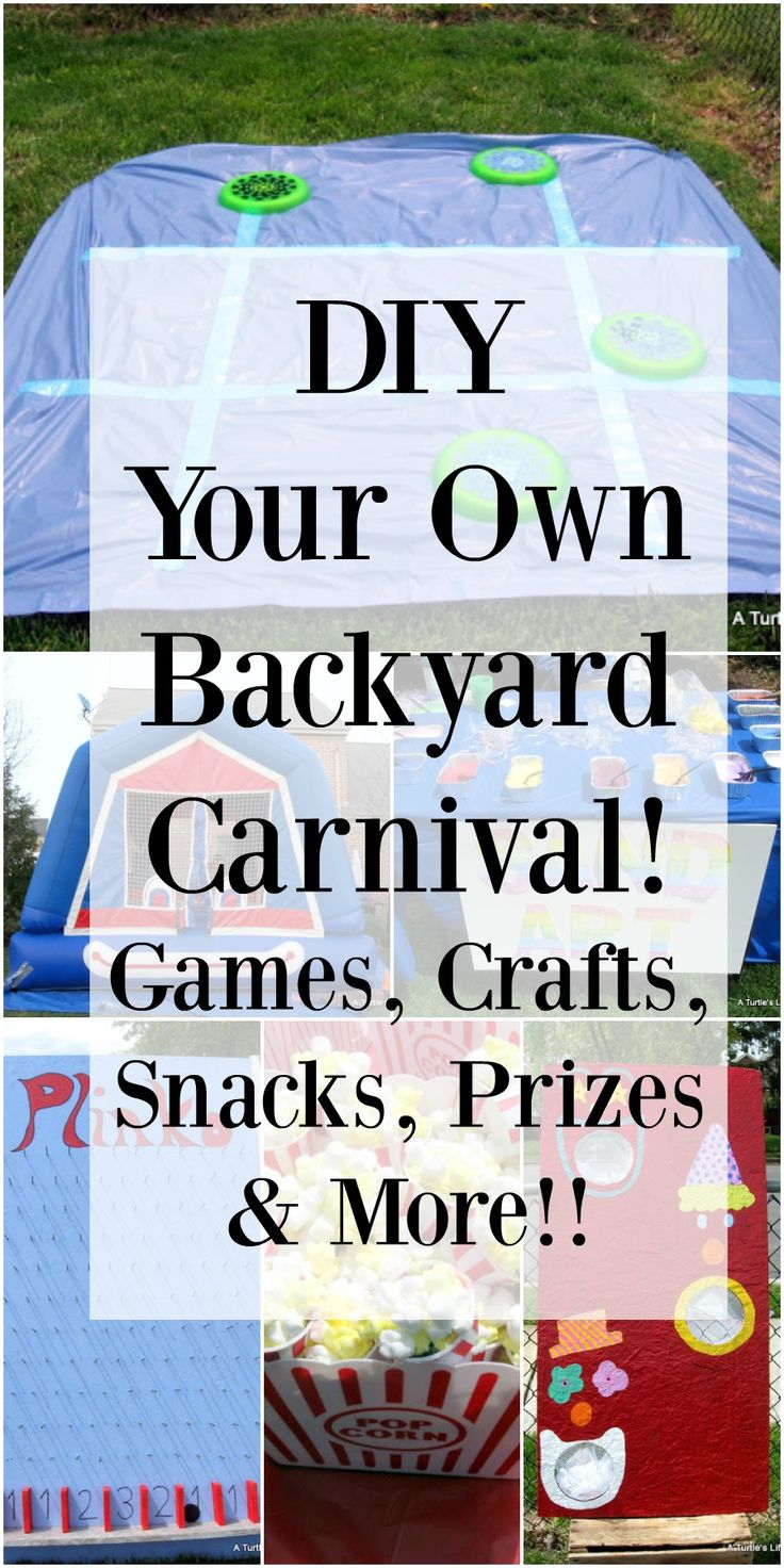 DIY Your Own Backyard Carnival This Link Has TONS Of Really Great Ideas That Would
