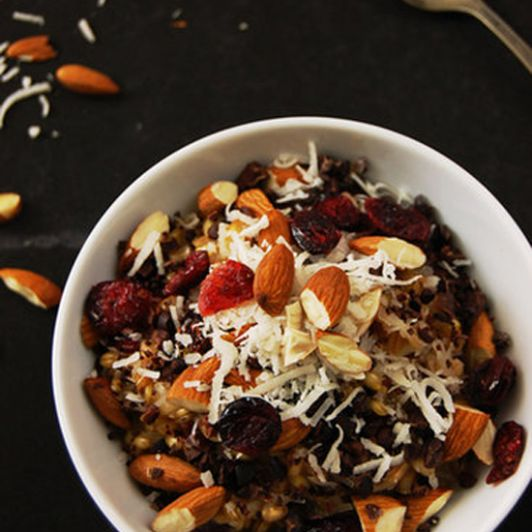 Savory Sight: Warm Farro and Barley Cereal