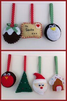 felt christmas decorations - Google Search