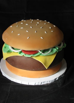 my husband would love this cheeseburger cake