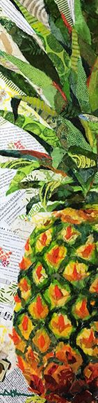 """Torn-Paper Collage """"Ripened to Perfection""""                                                                                                                                                      More"""