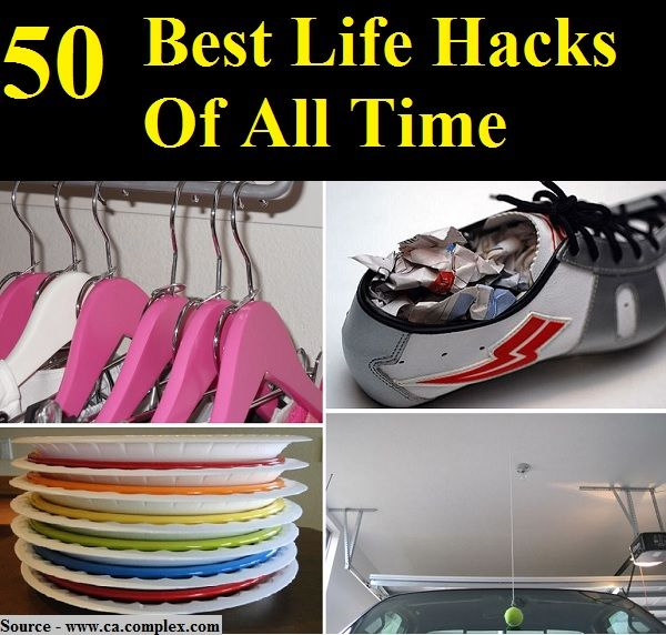 50 Best Life Hacks Of All Time | Good to know | Pinterest ...