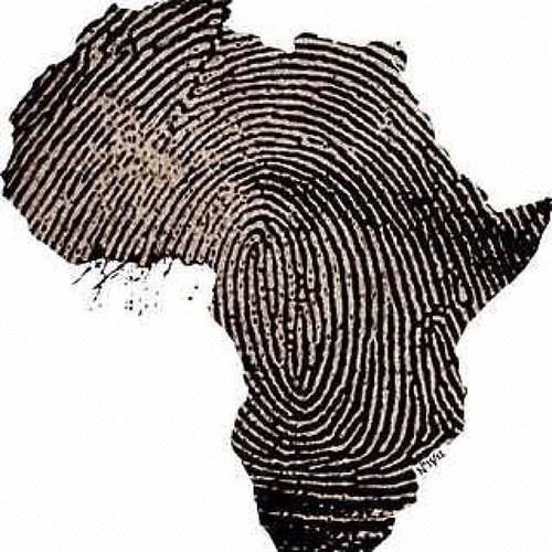 Africa, a fingerprint. I would get this for a tattoo except it would be Italy not Africa