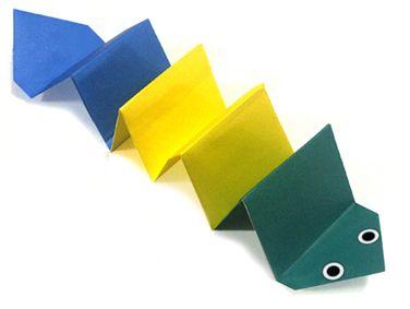 origami An Earthworm