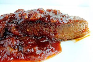 Sweet and tangy, here's my Bubbe's Famous Jewish Brisket...