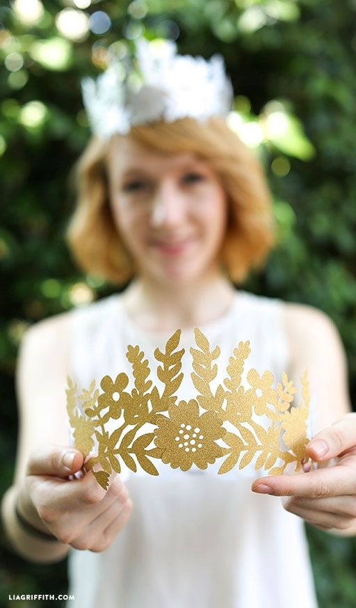 DIY Paper Crown by lia griffith | Project | Papercraft | Jewelry / Accessories | Women's | Weddings | Kollabora