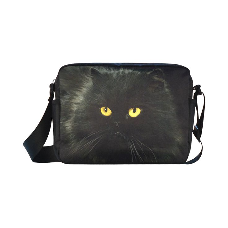 Black Cat Classic Cross-body Nylon Bags (Model 1632)