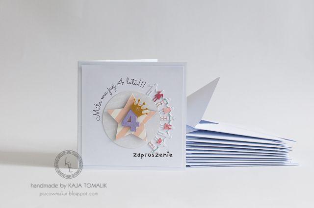 pracownia autorska Kai Tomalik: Roztańczone urodziny. Zaproszenia.