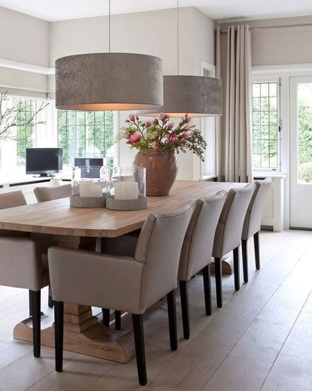 HOME-DZINE - Dining Rooms | Like any other room in the home, window treatments add the finishing touch and bring a level of softness to the otherwise hard edges that fill the space. Sharp pencil pleats or long, flowing curtains, dress windows with curtains and privacy blinds to introduce colour, pattern and texture.