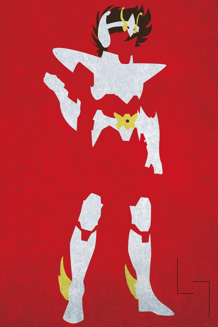 Minimalistic Pegasus Seiya (Silver Cloth) - by Jehuty23