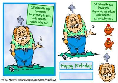 CUP604787_601 - Humorous card to send to golfer.