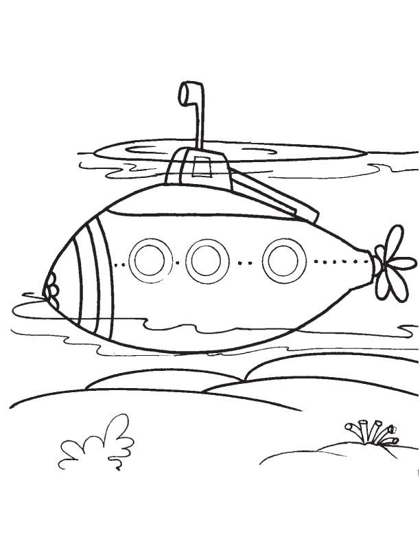 coloring pages of a submarine - photo#5