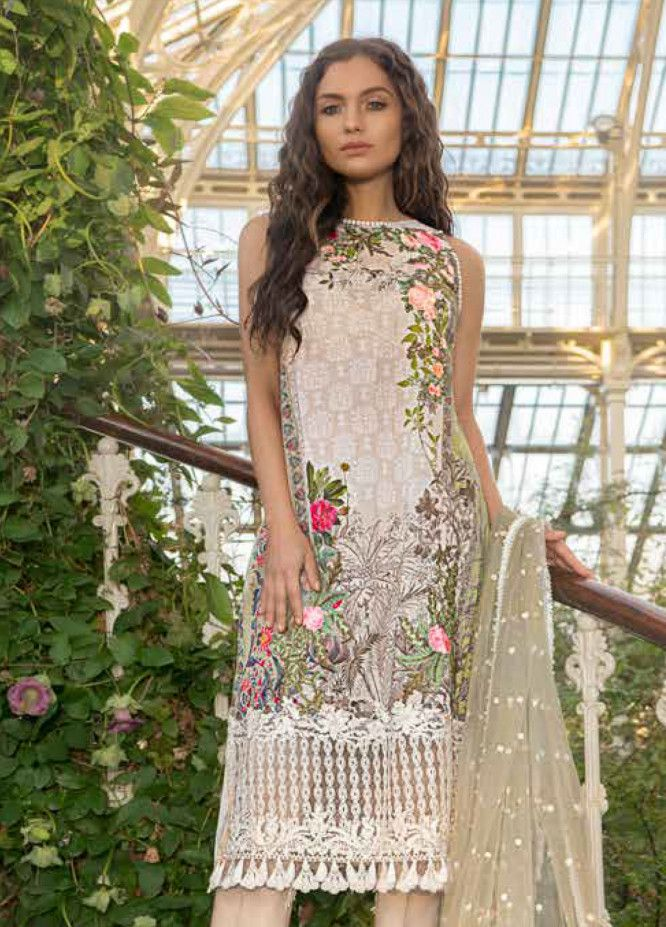 68044e7f40 Sobia Nazir Embroidered Lawn Unstitched 3 Piece Suit SN19L 1A - Spring / Summer  Collection