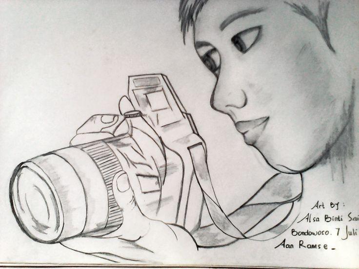 sketch by lilu binti saif  objek : aan ramsye bin hamid