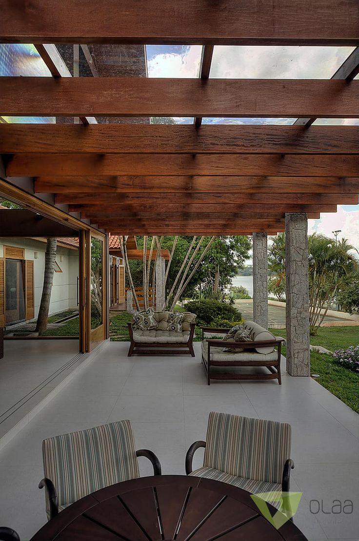 Casa de Campo Quinta do Lago - Tarauata: Terraços por Olaa Arquitetos