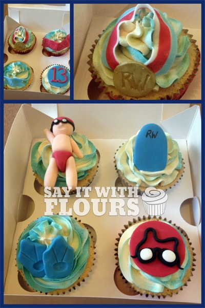 Swimming Cupcakes - how delicious do these look? Honestly think we need to get these guys to make some for our swimming families.