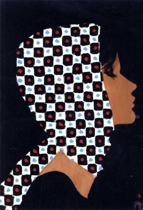 René Gruau, cover design for International Textiles, 1962. Ink, gouache and pencil. Gallery Bartsch Chariau, Munich