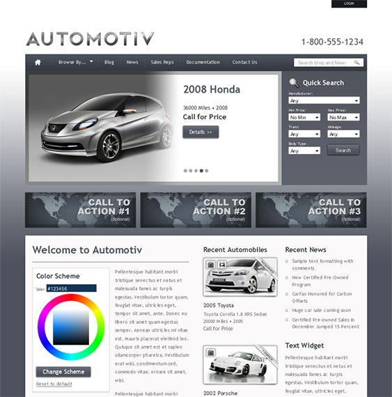 8 best 8 of the Best Car Dealership \ Vehicle Listings WordPress - car loan calculator template