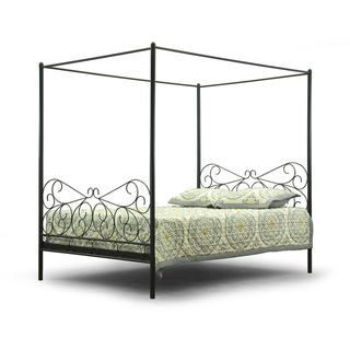@Overstock - Baxton Studio Antiquity Metal Contemporary Queen-Size Canopy Bed - This Ainge  sc 1 st  Pinterest & Best 25+ Queen size canopy bed ideas on Pinterest | Queen canopy ...