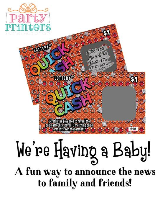 Pregnancy Announcement / Surprise Pregnancy by partyprinters