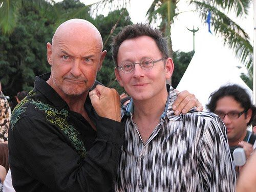 Terry o' Quinn and Michael Emerson, not as John Locke and Benjamin Linus, on the LOST Set / Final Season.