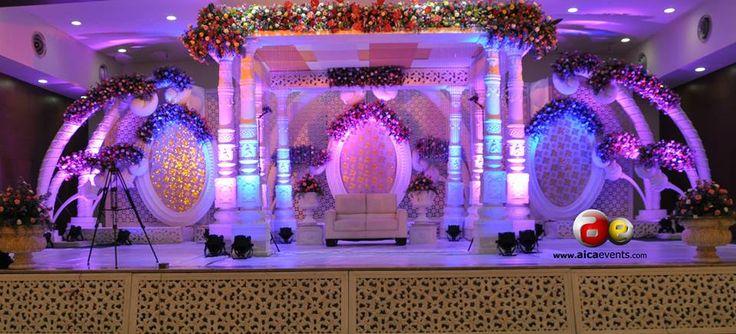 Stage DecorationsWedding PlannersWedding DecorationsIndian WeddingHall Decorations