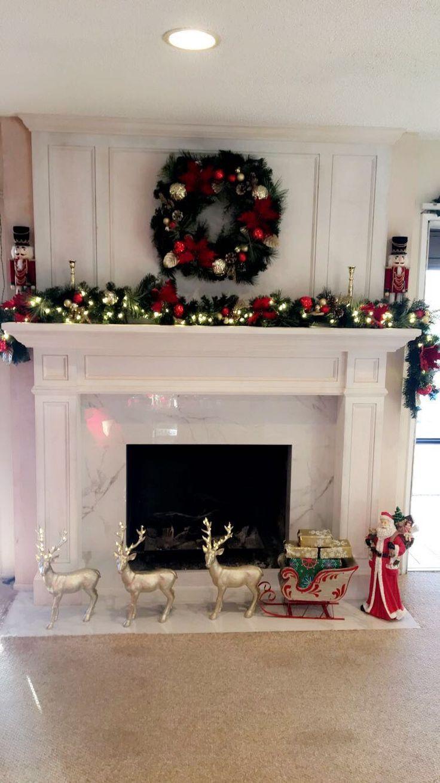 So Suss Diy Christmas Fireplace Christmas Fireplace Decor Christmas Fireplace