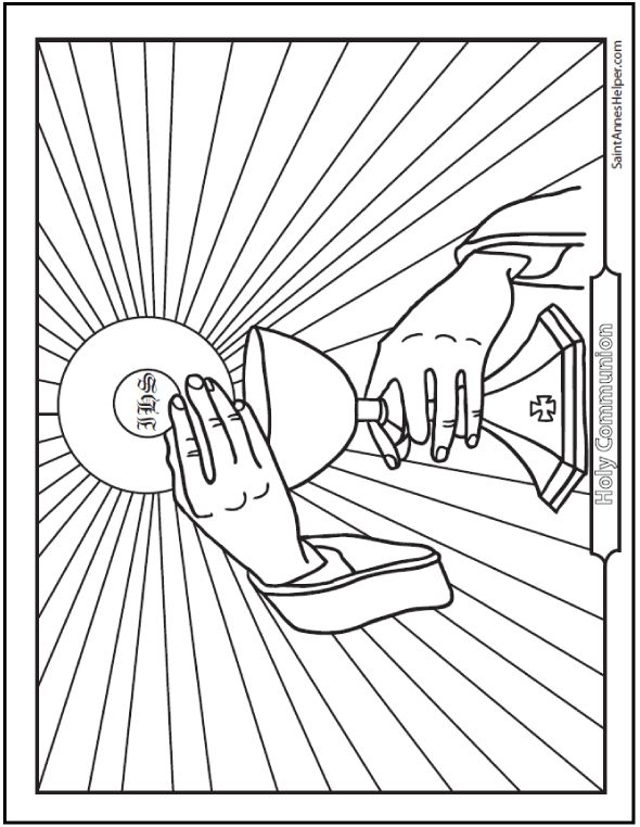 jesus coloring pages catholic church - photo#45