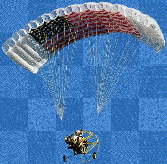 Considered by most as the safest form of flying (you are under a parachute after all) powered parachutes offer a very easy way to enjoy the freedom of flight. Description from dragonflight.tripod.com. I searched for this on bing.com/images