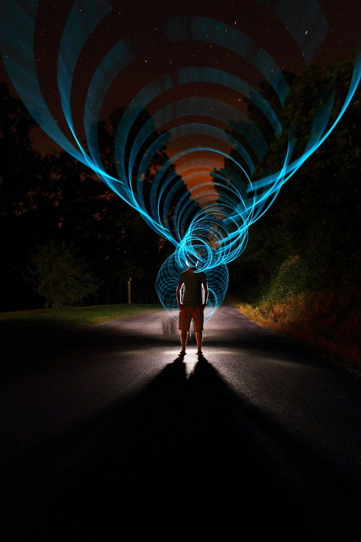 Super Rad Light Painting by Dennis Calvert